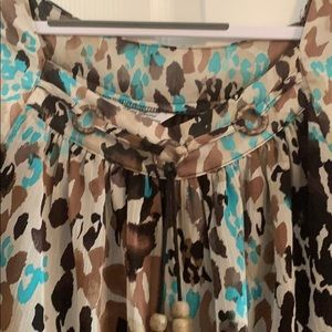 Signature by Larry Levine Tops - Brown animal print top